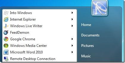 Add Websites To Start Menu Using Internet Explorer 9