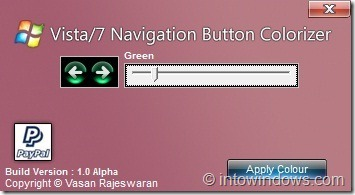 Change Navigation Button Color In Windows 7