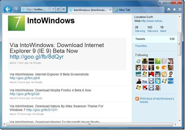 Pin websties to Windows 7 Taskbar using IE9