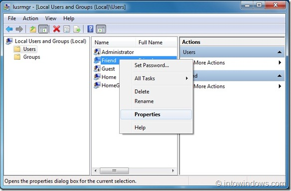Prevent Users From Changing Password In Windows 7 step3