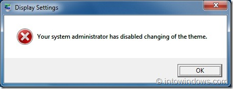 change windows 7 theme without admin rights