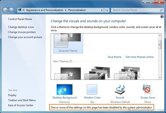 Sensational How To Prevent Users From Changing Theme In Windows 7 Home Interior And Landscaping Spoatsignezvosmurscom