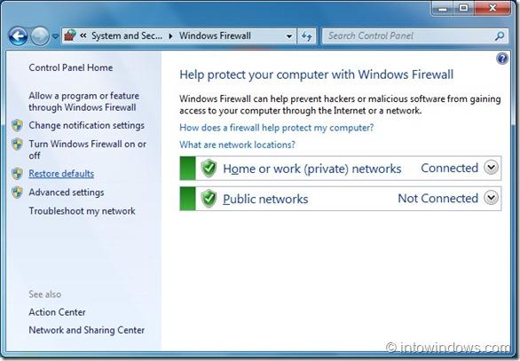 Restore Windows 7 Firewall To Default Settings step3