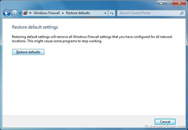 how to change firewall settings in windows 7
