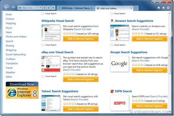 Set Google As Default Search Provider In Internet Explorer 9 step7