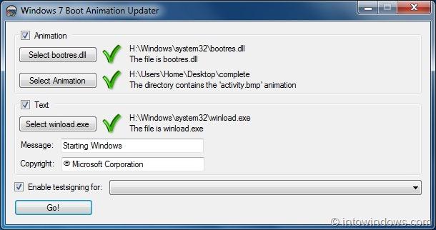 Windows 7 boot animation changer