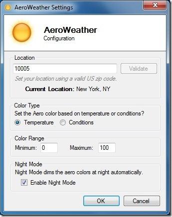 AeroWeather For Windows 7