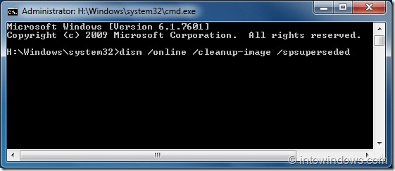 Reclaim Lost Disk Space After Installing SP1 For Windows 7