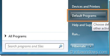 Restore Windows Media Player File Associations in Windows 7 step1