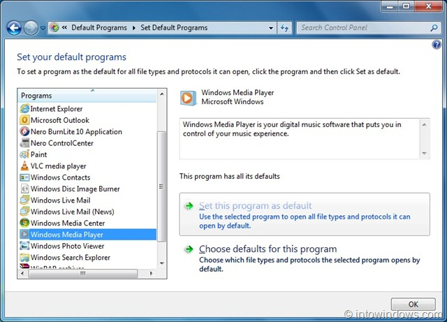 How To Reset Windows Media Player File Associations In Windows 7