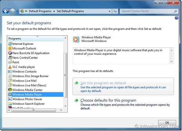 Restore Windows Media Player File Assosiations In Windows