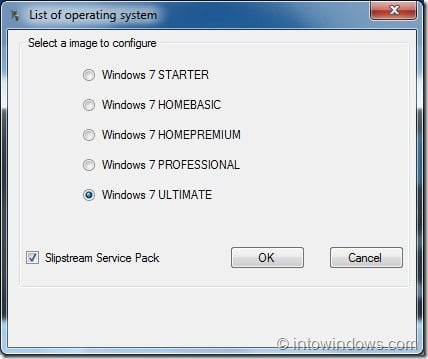 Slipstream Windows 7 SP1 Into Windows 7 Installation DVD Step3