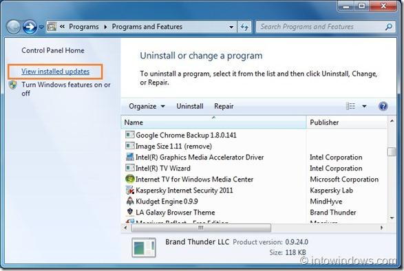 Uninstall Office 2010 SP1 Beta step2