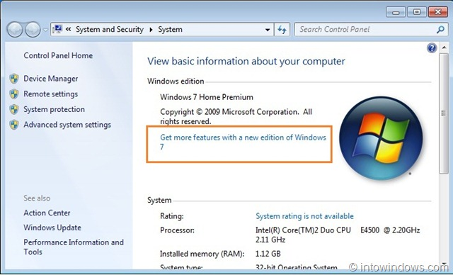 how to upgrade windows 7 home to windows 7 professional