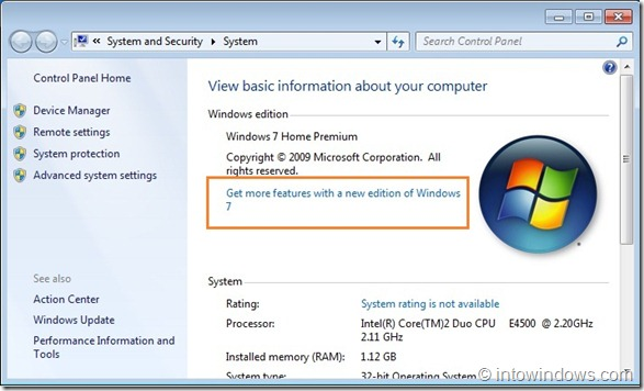 Upgrade Windows 7 Home Premium To Professional Edition