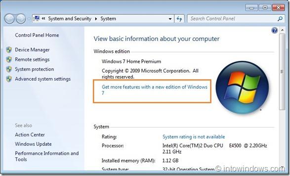 Upgrade Windows 7 Home Premium To Professional Edition