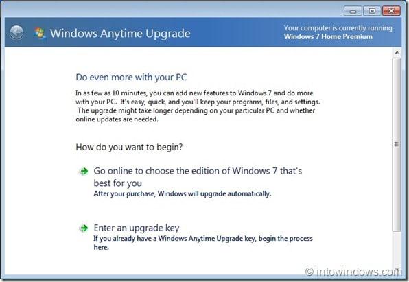 Upgrade Windows 7 Home Premium To Professional Edition step3
