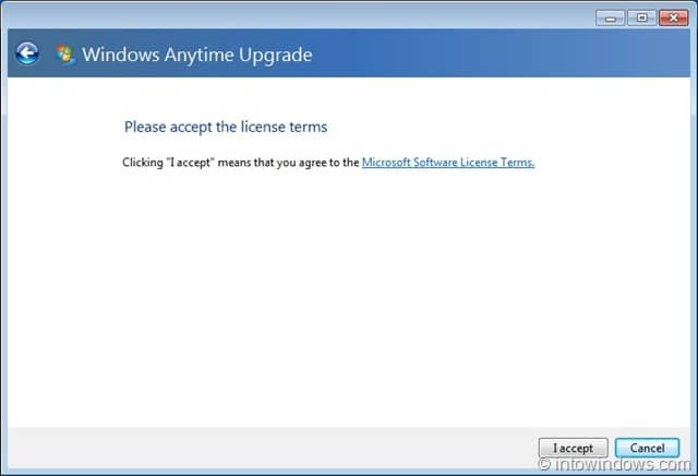 windows upgrade license