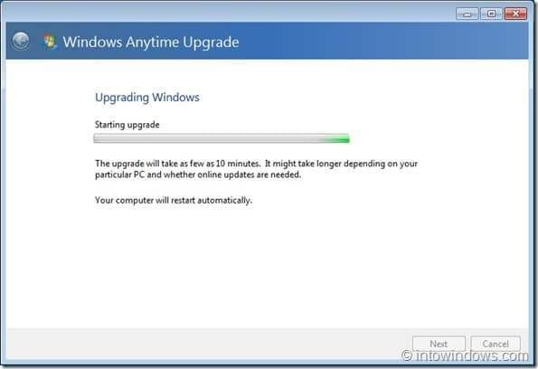 Upgrade Windows 7 Home Premium To Professional Edition step7