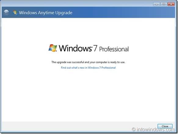 Upgrade Windows 7 Home Premium To Professional Edition step9