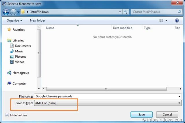 chrome password file windows 10