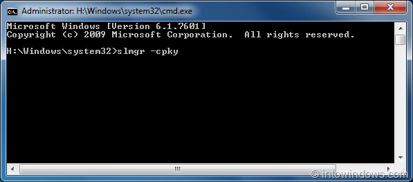 how to remove windows 7 product key from registry