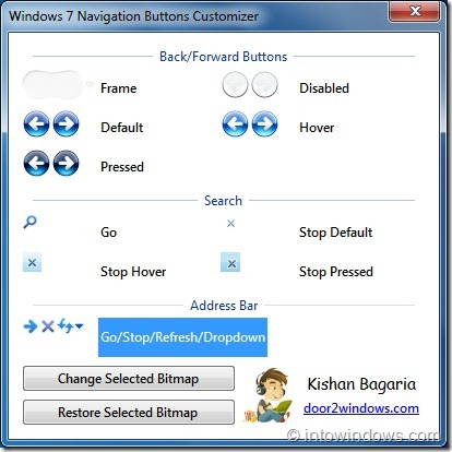 Windows 7 Navigation Buttons Customizer