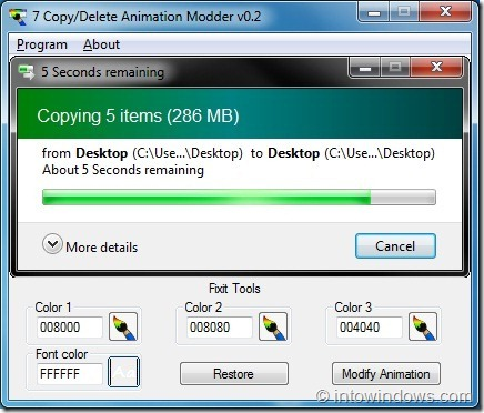 7CopyDelete Animation Modder for Windows7