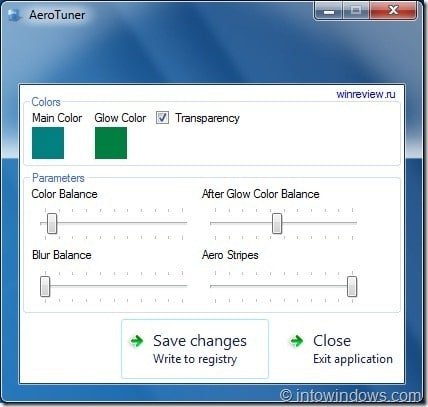 Aero Tuner for Windows7