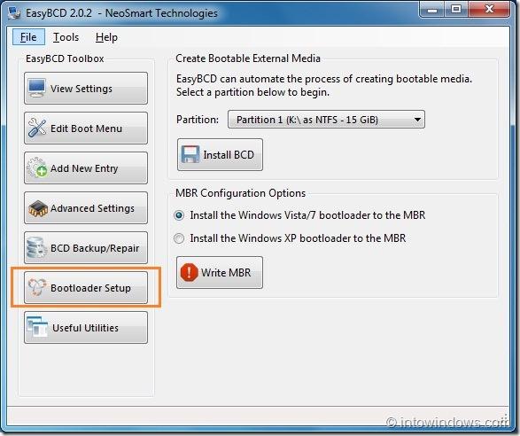 Create Bootable USB Flash Drive Using EasyBCD