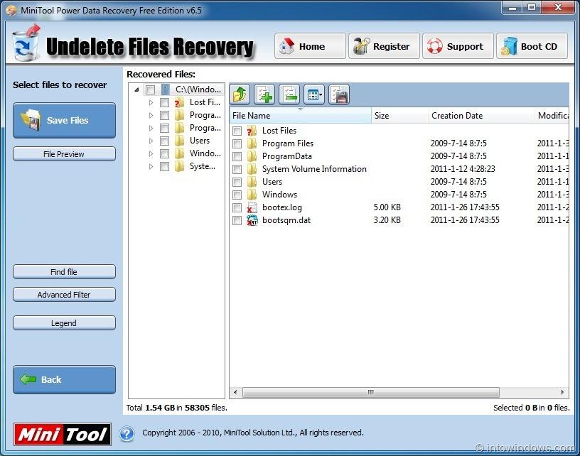 minitool power data recovery free edition