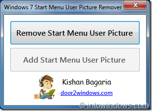 Remove User Picture From Start menu in Windows7
