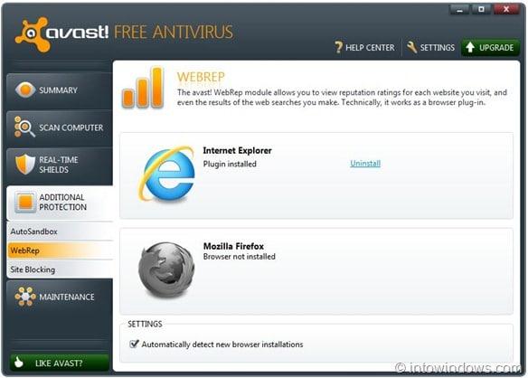 Avast 6 Free Anvirus WebRep