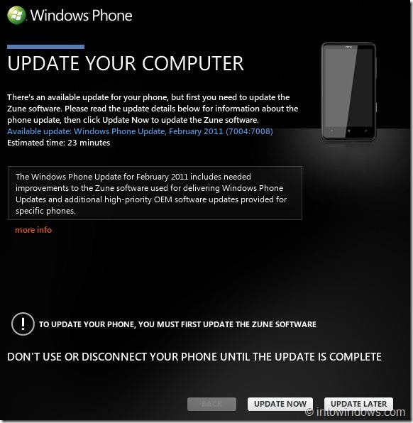 How To Update Windows Phone 7 Software Step5