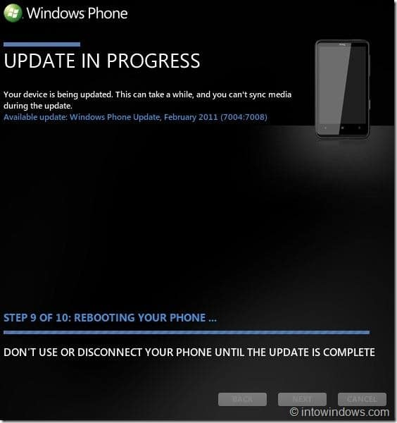 How To Update Your Windows Phone 7 Software Step 14