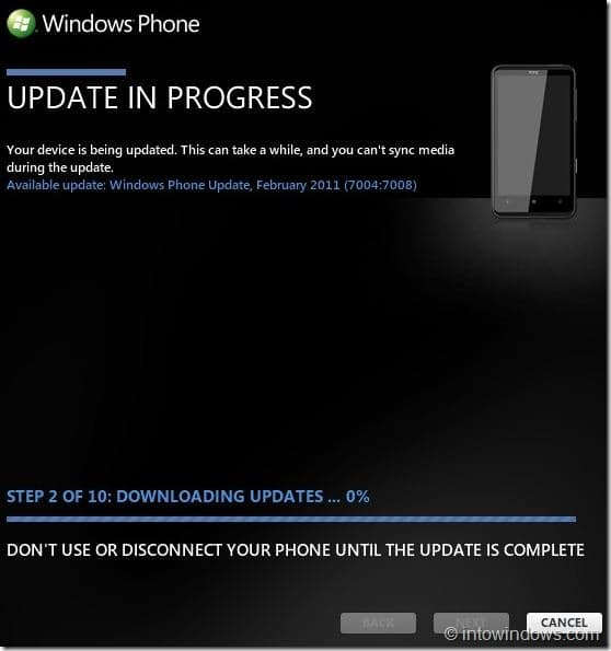 How To Update Your Windows Phone 7 Software Step 15