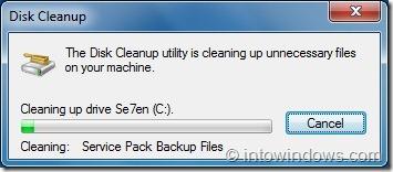 Remove Windows 7 Service Pack Backup Files Step6