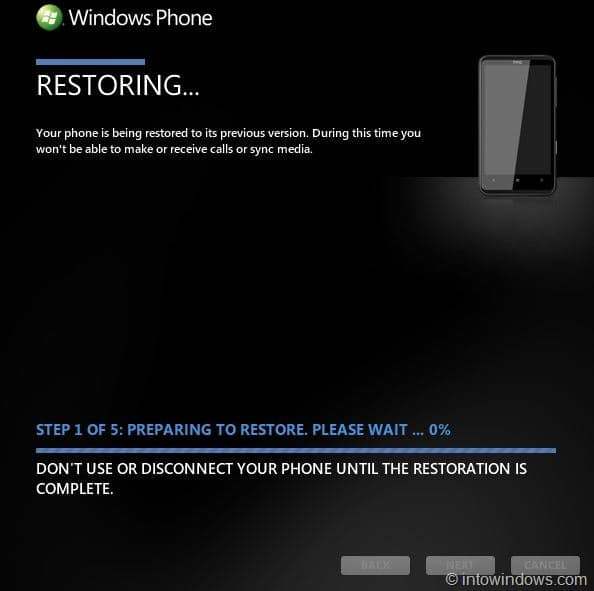 restoring your previous version of windows