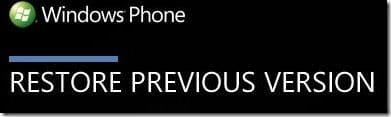 Restore Windows Phone 7