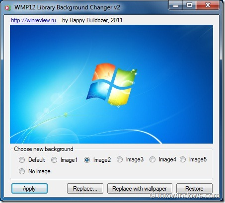 Set A Custom Picture As Windows Media Player Library Background