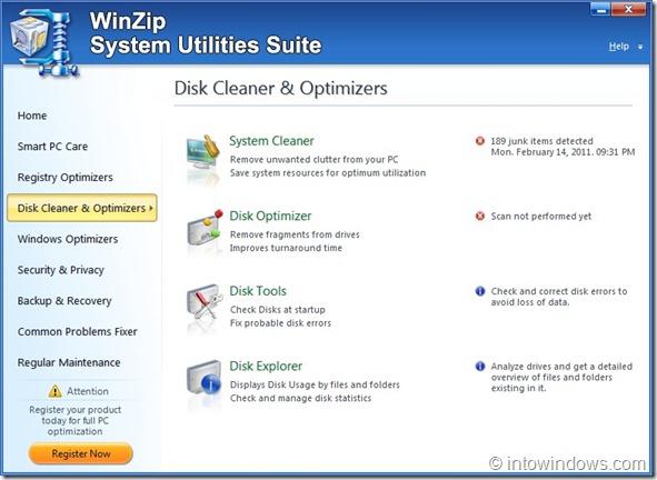 WinZip System Utilities Suite Screenshot2