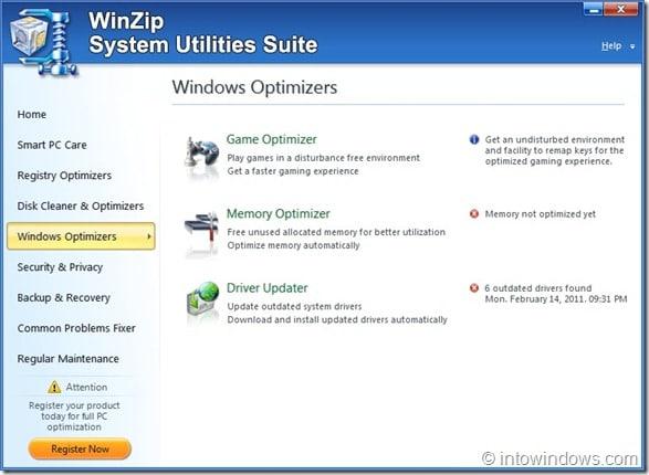 WinZip System Utilities Suite Screenshot3