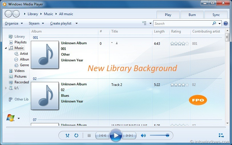 how to download music to media player library