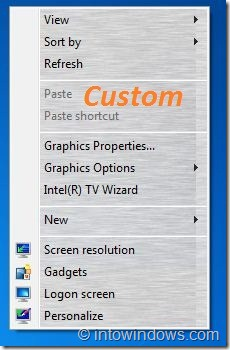 Custom Background In Desktop Context Menu