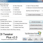 IE9 Tweaker Plus: Personalize Internet Explorer 9 Browser