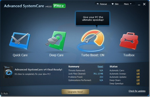 Advanced System Care 4 Free For Windows