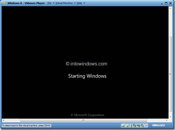 Install Windows 8 On VMware Player Step10