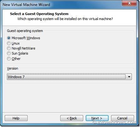 Install Windows 8 On VMware Player Step3
