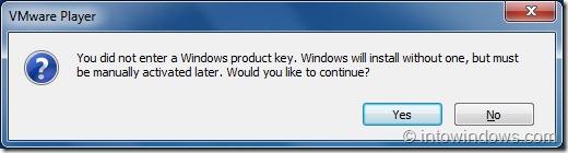 Install Windows 8 On VMware Player Step41