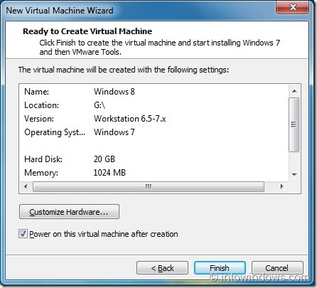 Install Windows 8 On VMware Player Step7